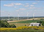 The Exelon-Community Energy wind farm at Somerset, Pennsylvania has 6 Enron 1.5 MW wind turbines producing enough electricity annually to supply 3075 average homes.